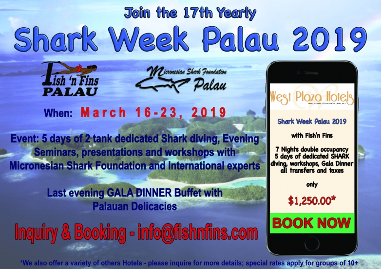 Invitation to Yearly Shark Week Palau 2019
